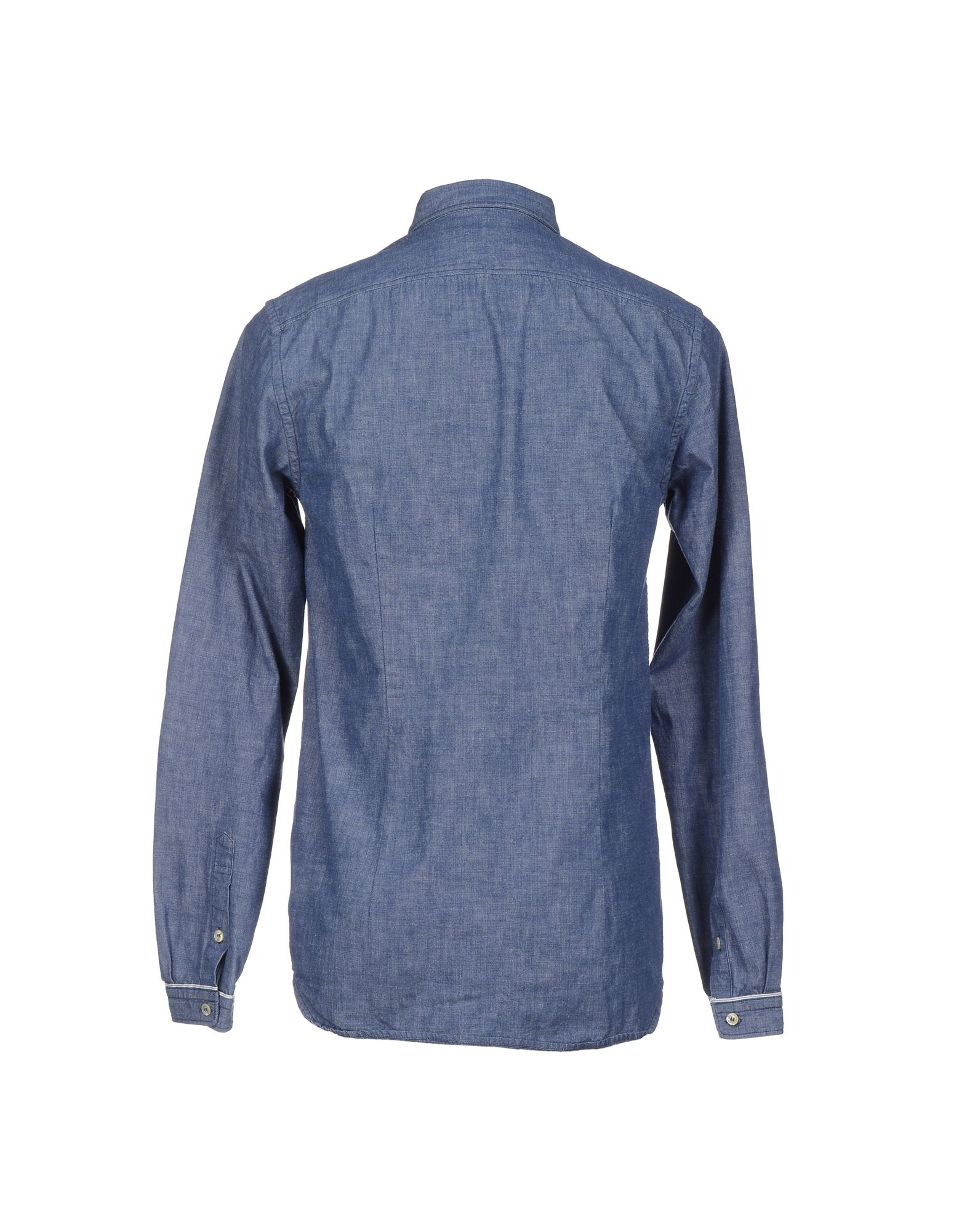 Lyst diesel black gold denim shirt in blue for men Black shirt blue jeans