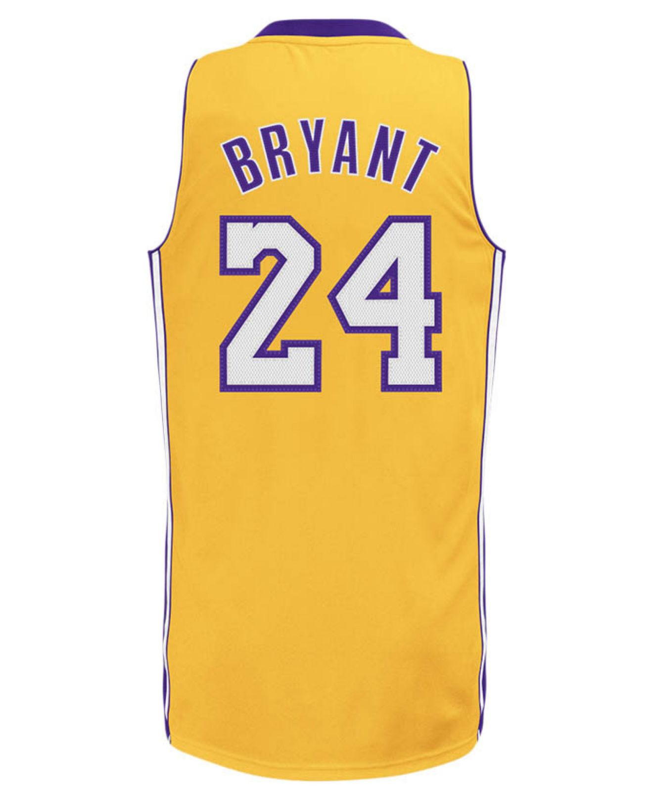 adidas Men's Los Angeles Lakers Kobe Bryant Jersey in Gold (Yellow ...