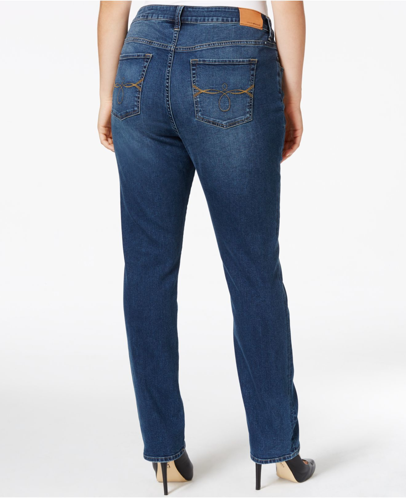 Macy's Lucky Brand Plus Size Ginger Slim Bootcut Jeans, Lodi Wash ...