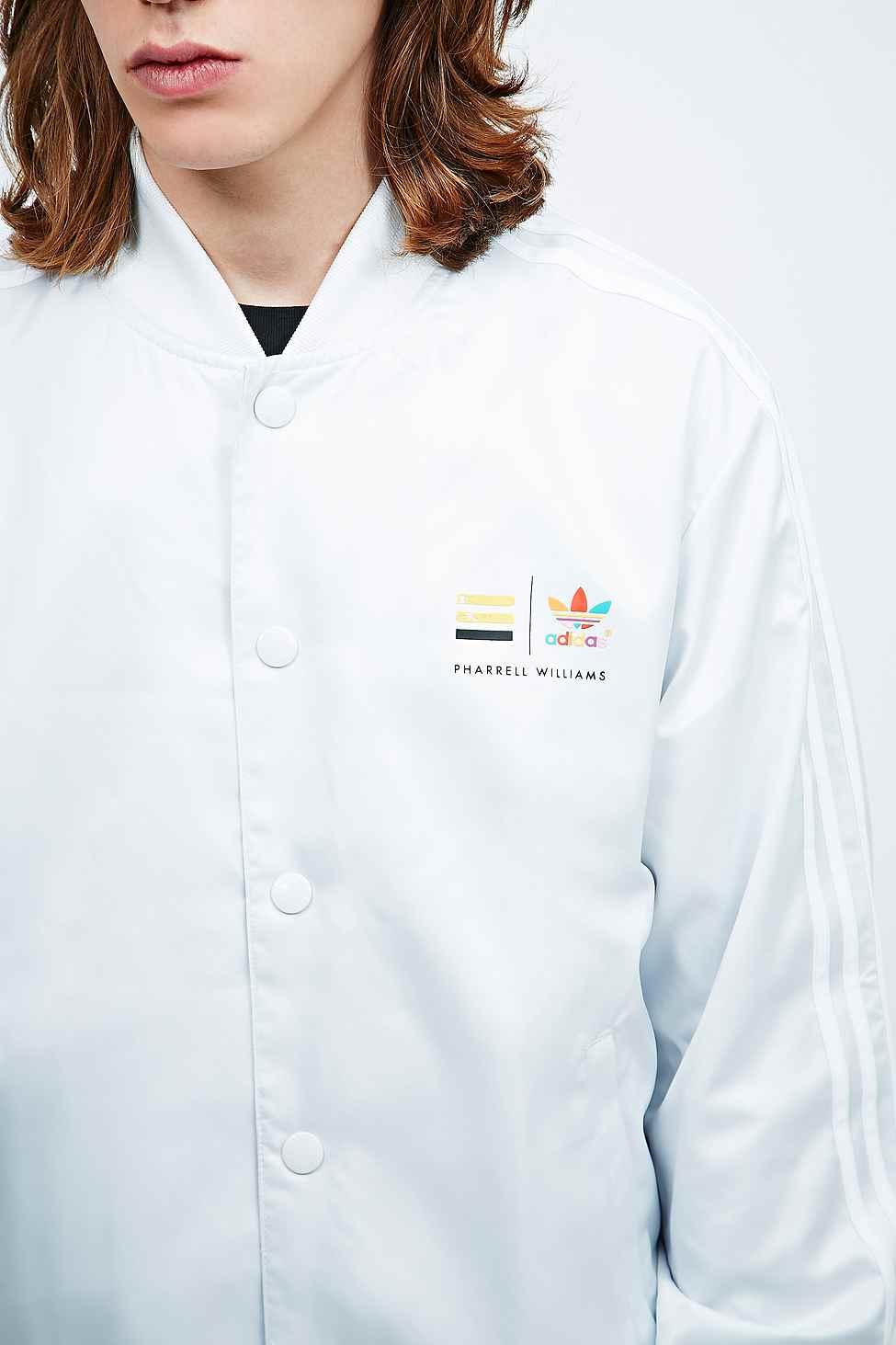adidas Originals X Pharrell Williams Track Jacket in Neo White for Men