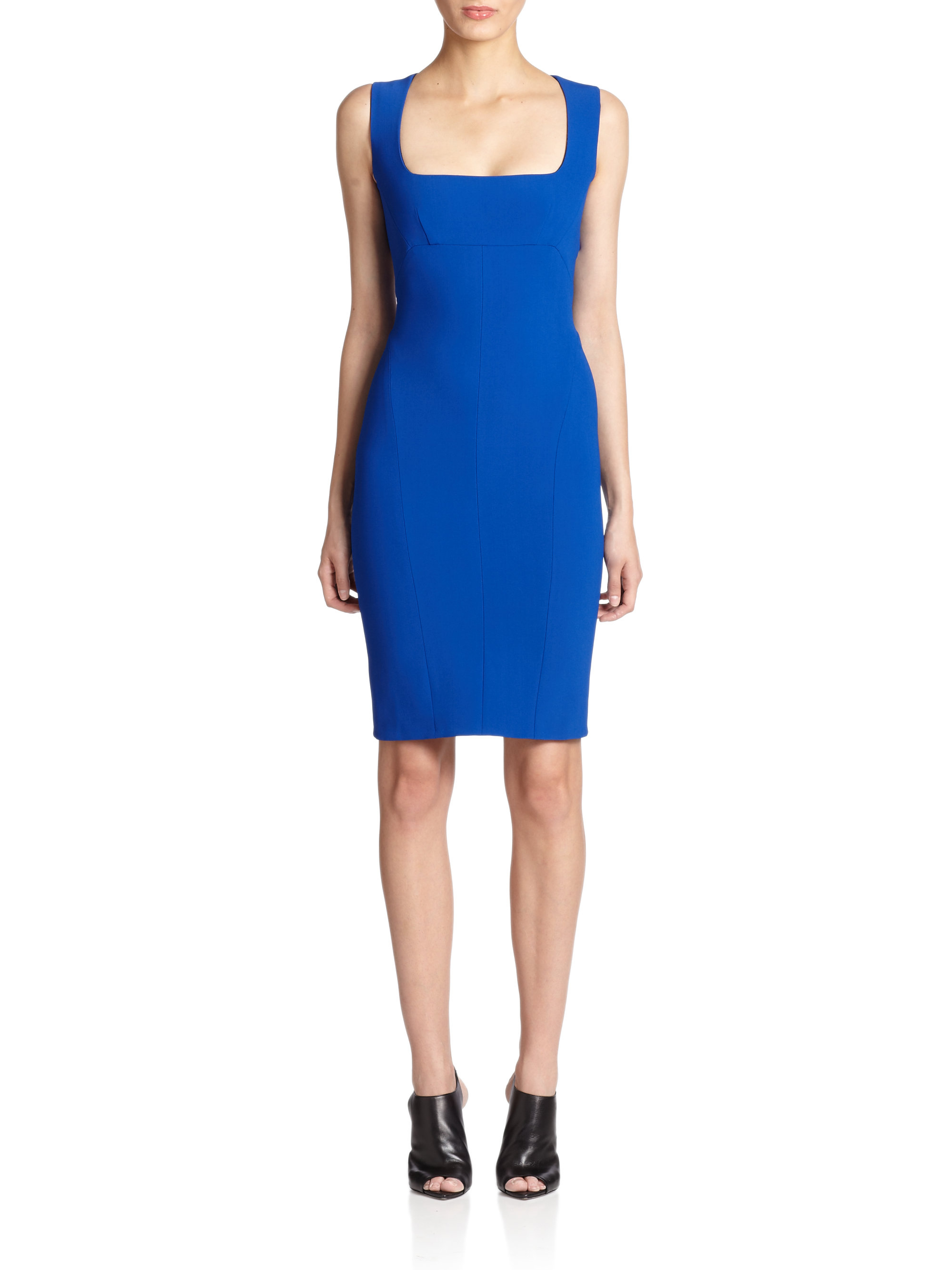 df7e4705458 Lyst - Narciso Rodriguez Scuba Harness Dress in Blue