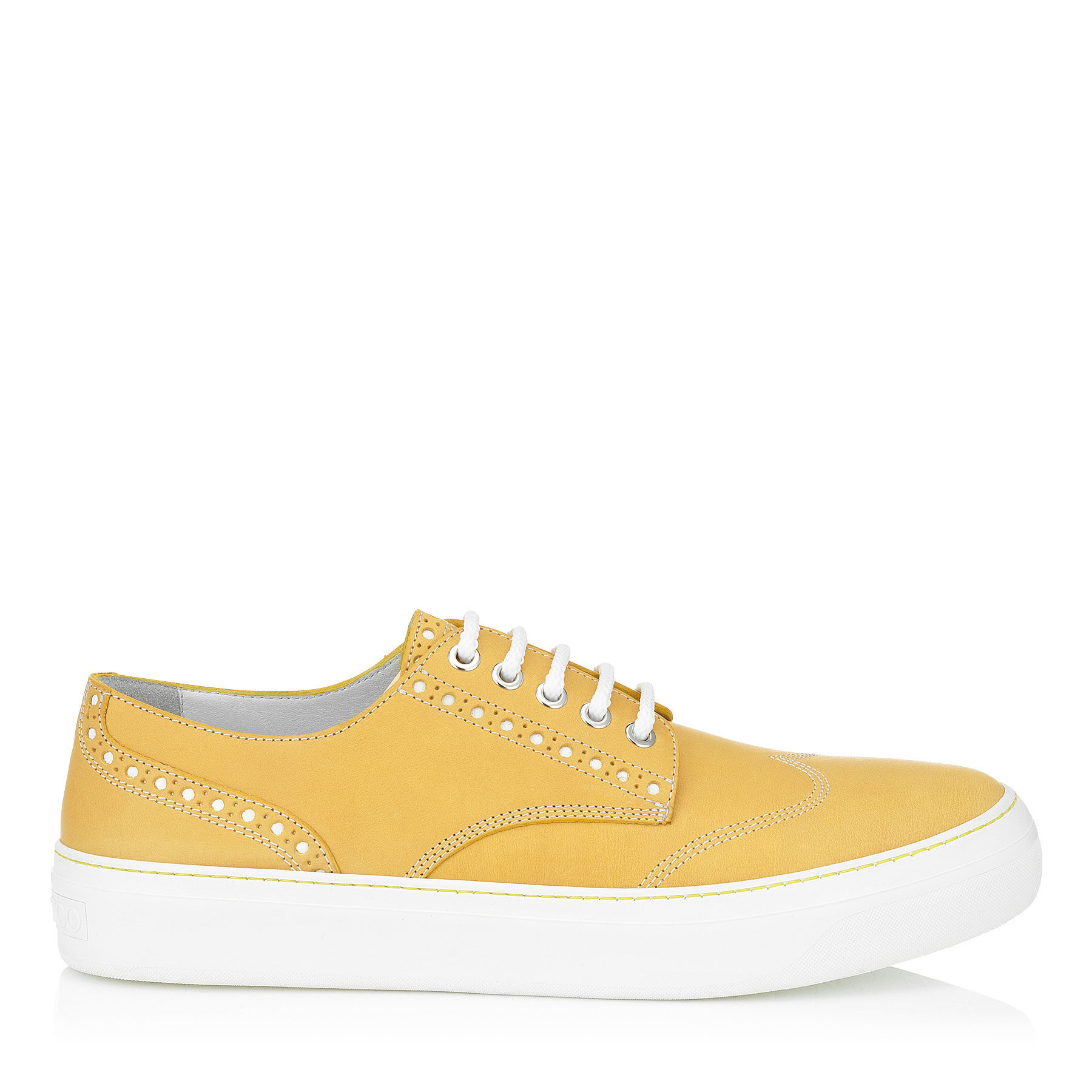 Jimmy Choo Reggy Canary Yellow Leather Trainers for Men