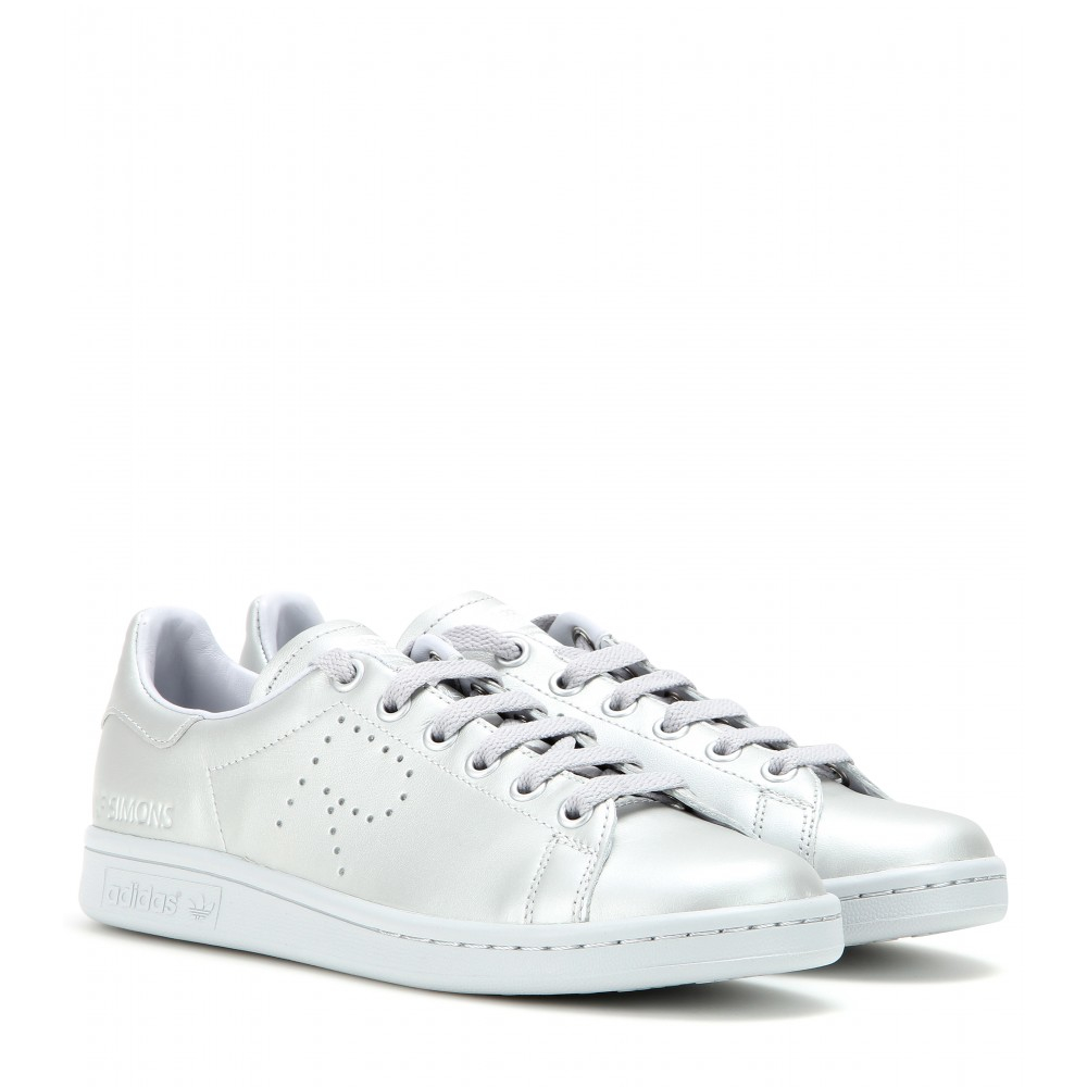 adidas by raf simons stan smith metallic leather sneakers. Black Bedroom Furniture Sets. Home Design Ideas