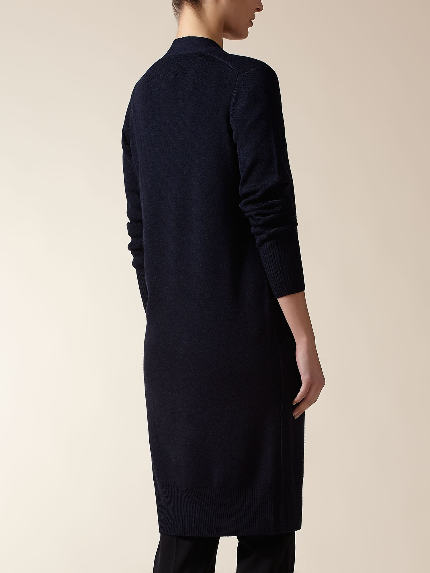 Jaeger : Merino Long Line Cardigan in Blue | Lyst