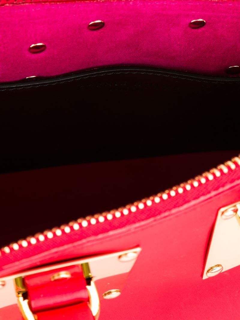Sophie Hulme Mini Box Tote in Red
