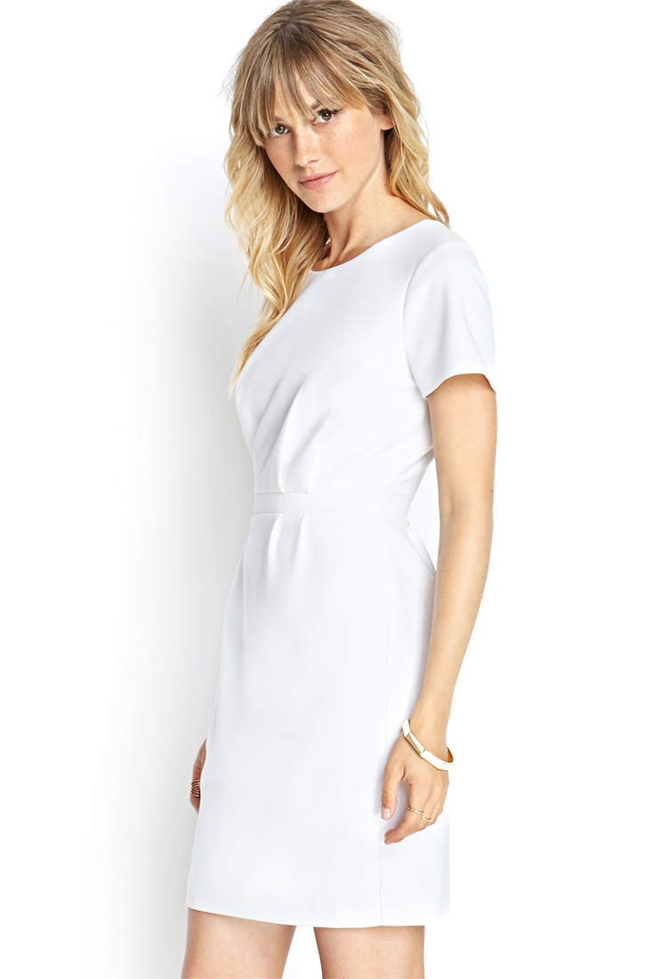 Lyst - Forever 21 Contemporary Short-sleeved Knit Dress in ... - photo #22