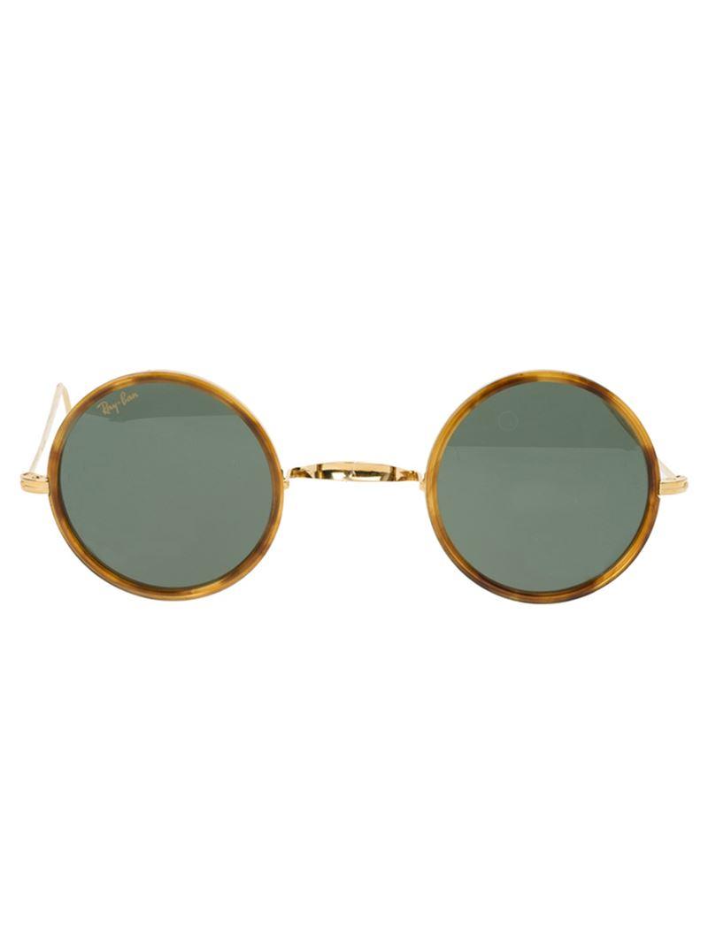Gafas Ban de Ray redonda montura de sol con r1qFwZnrUR