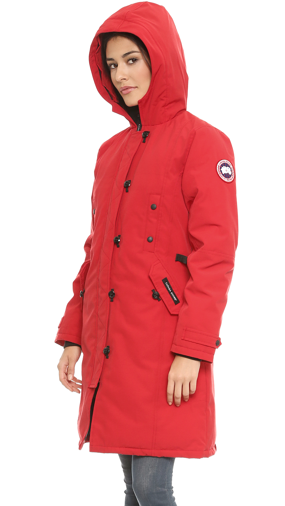 canada goose kensington parka red in red lyst rh lyst co uk