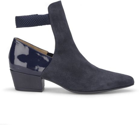 Simple Gabor Ankle Boots  Trudy Ladies Navy Suede Ankle Boots  Mozimo