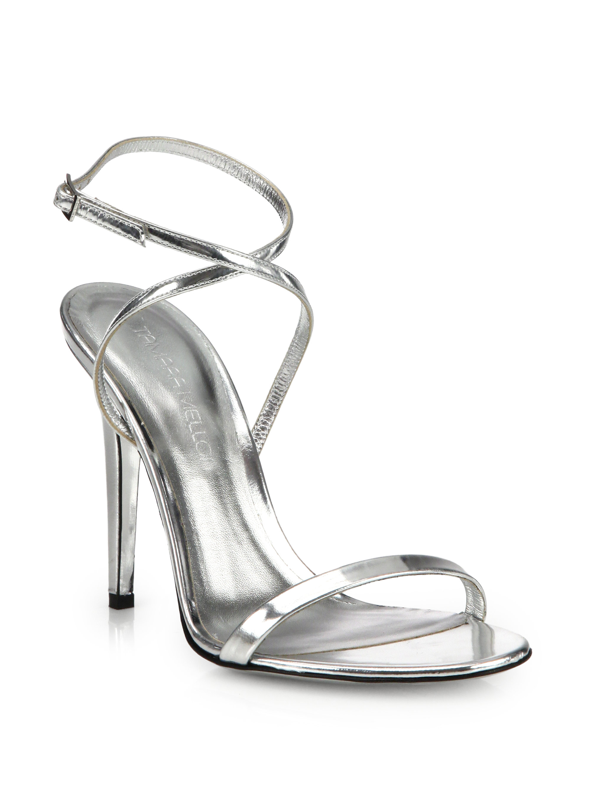 Black And Silver Strappy Heels | Tsaa Heel