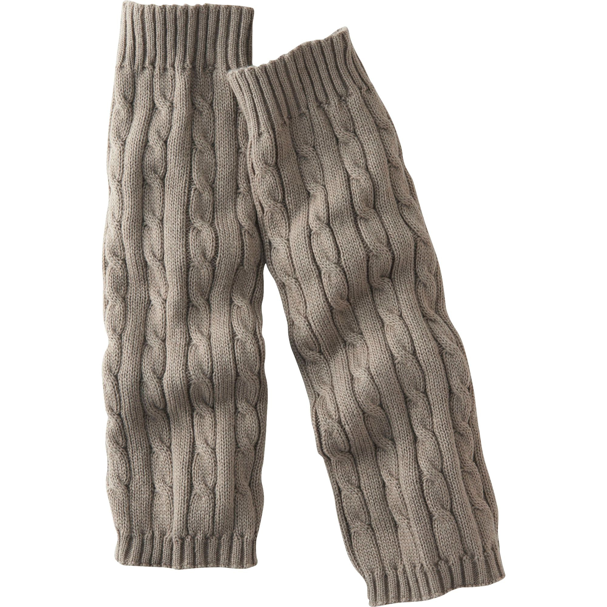 Uniqlo | Brown Women Heattech Knitted Leg Warmers (Cable ...