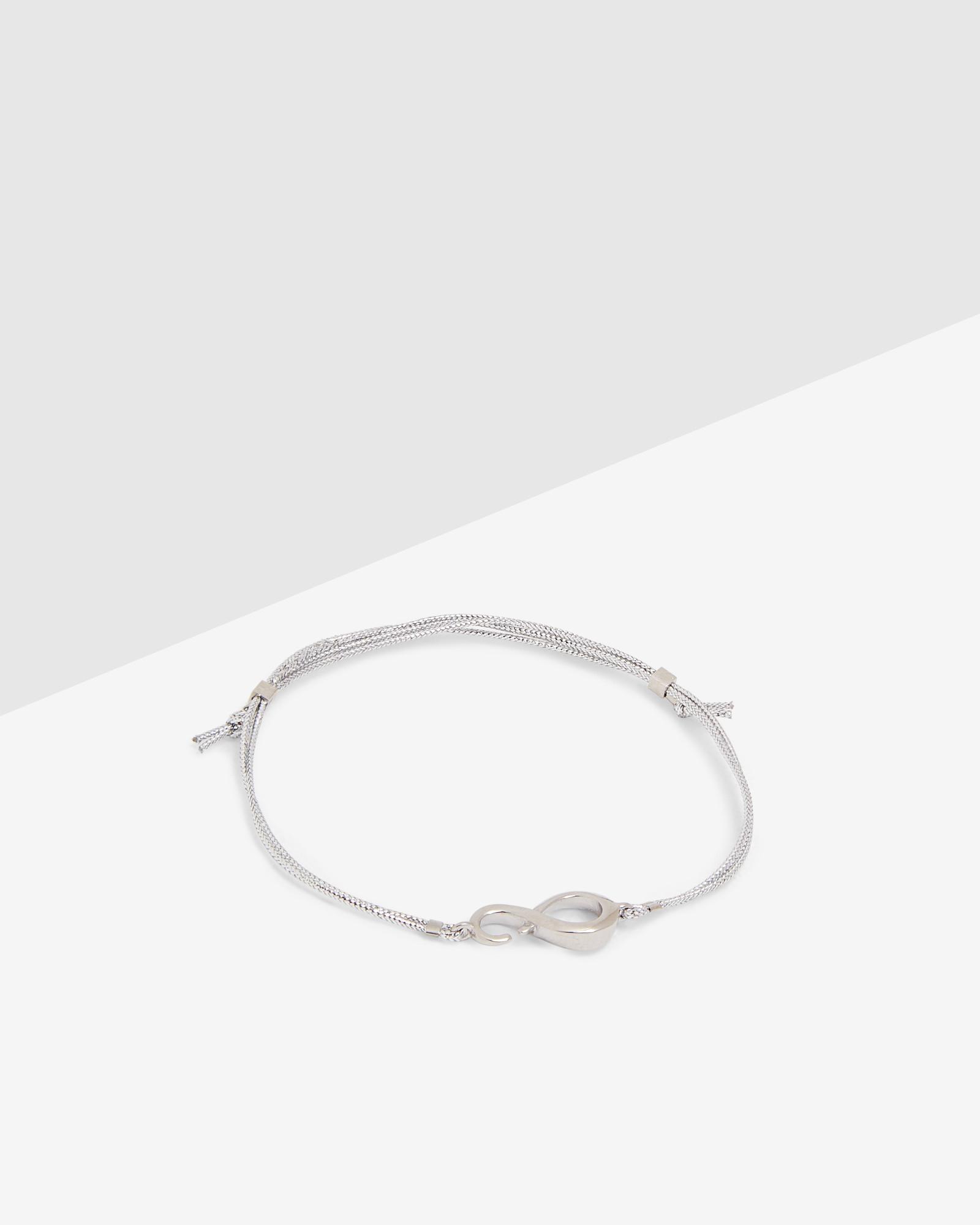 Ted Baker Infinity Cord Bracelet In