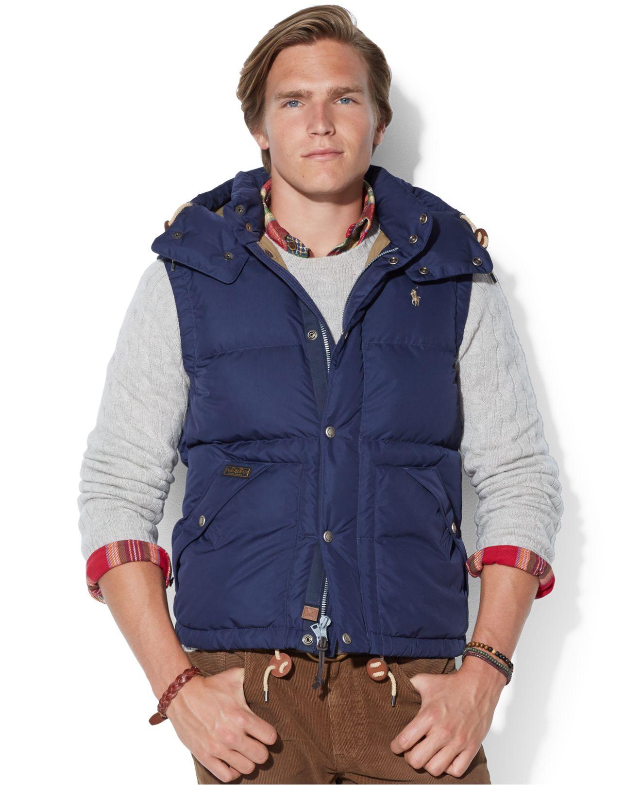 Lyst - Polo Ralph Lauren Elmwood Down Vest in Blue for Men