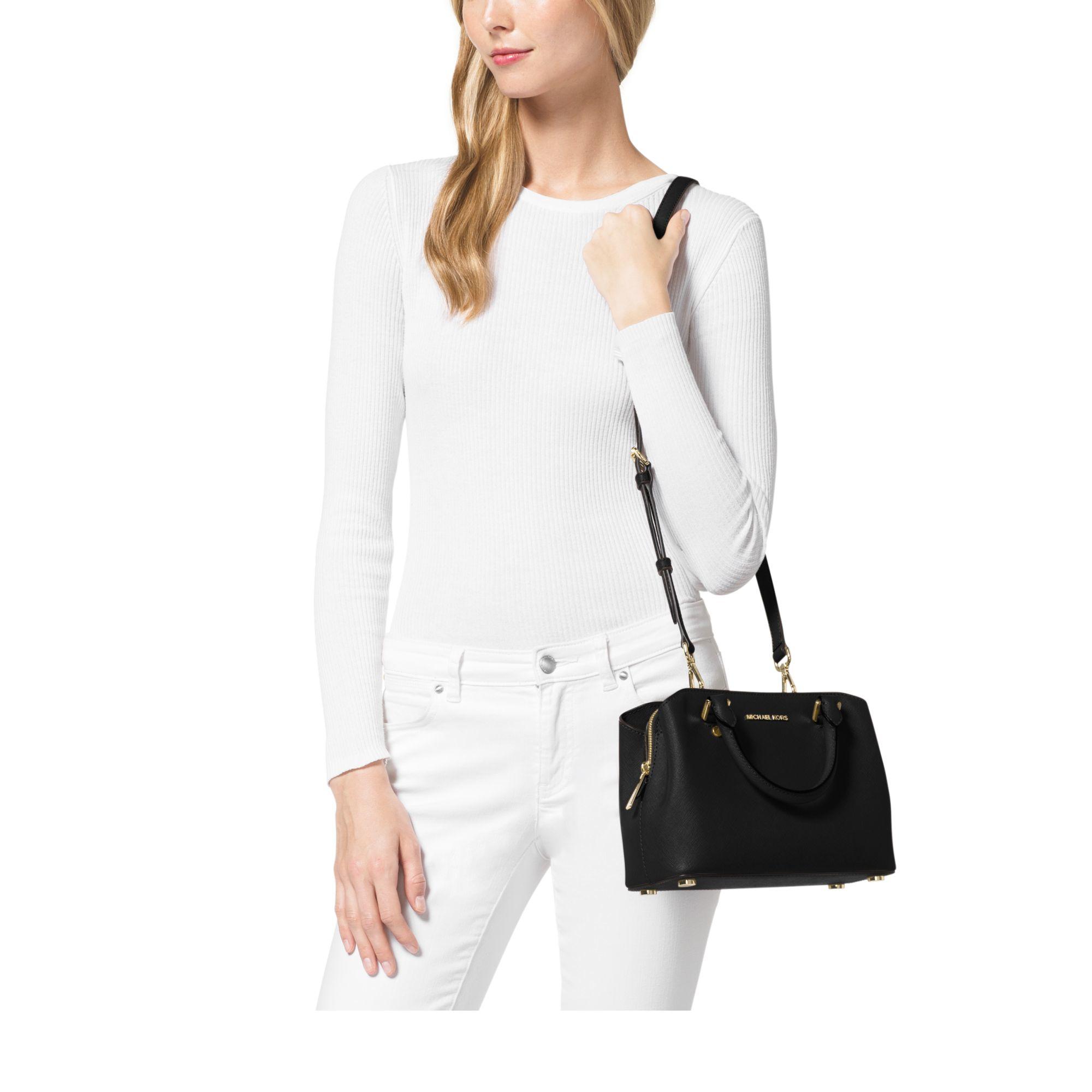 Lyst Michael Kors Savannah Small Saffiano Leather