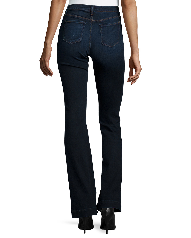j brand maria high waist flare jeans in blue lyst. Black Bedroom Furniture Sets. Home Design Ideas