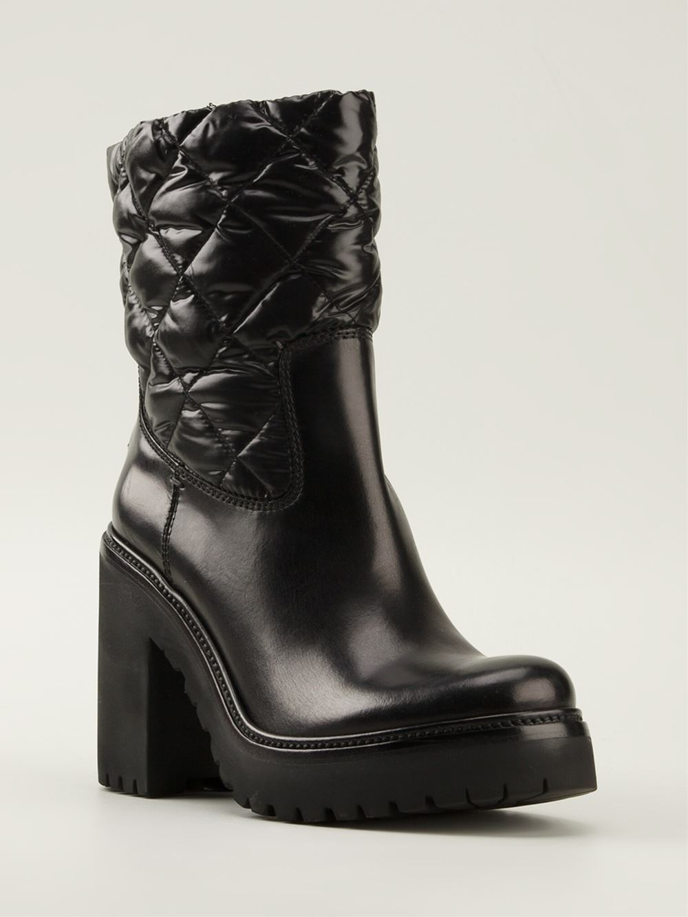 Moncler Quilted Boots in Black