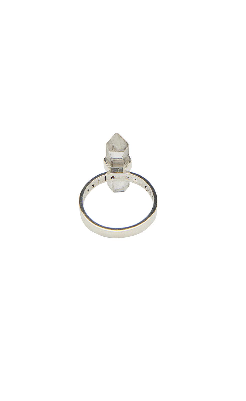 Rebecca Taylor Krystal Knight Single Mini Thin Ring in Silver (Metallic)