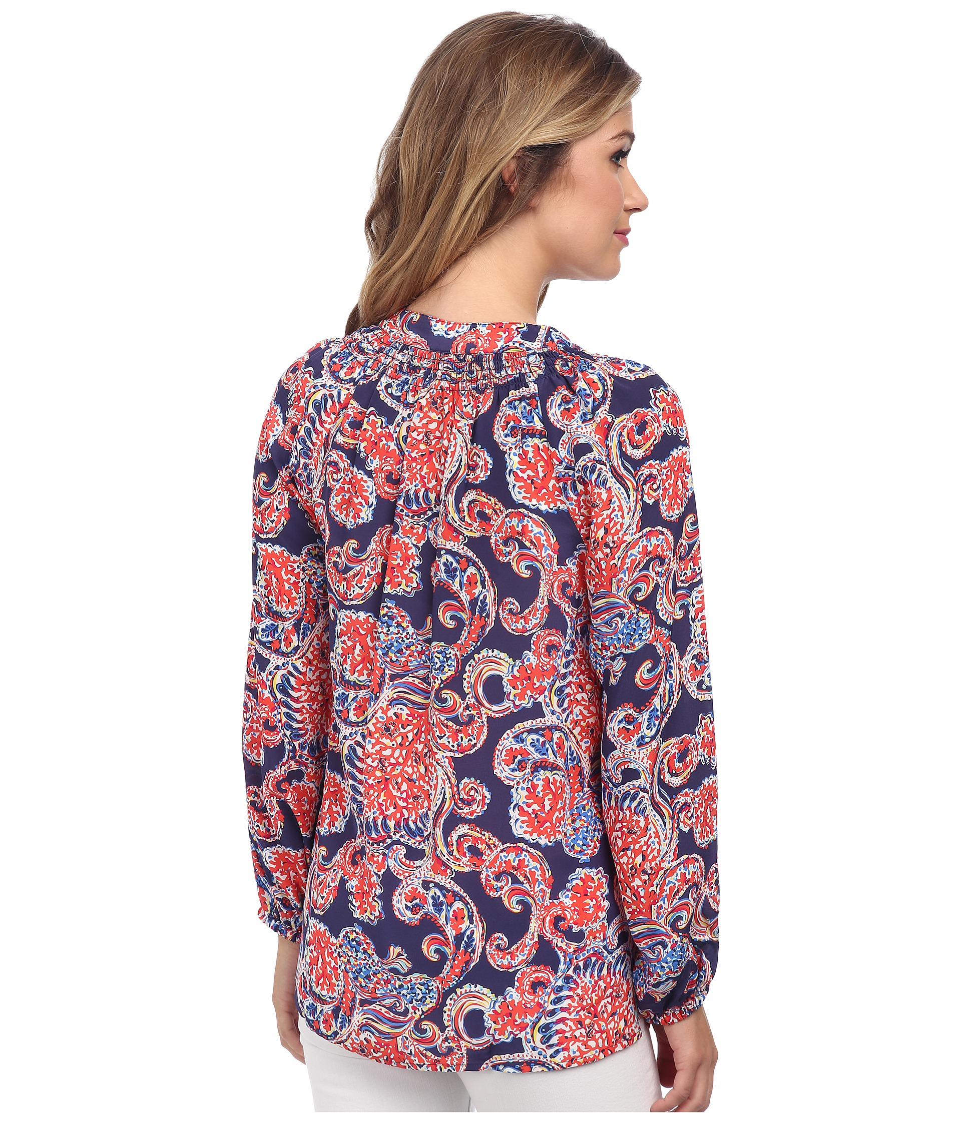 3fc1e6077bbeaf Lilly Pulitzer Printed Elsa Top in Blue - Lyst
