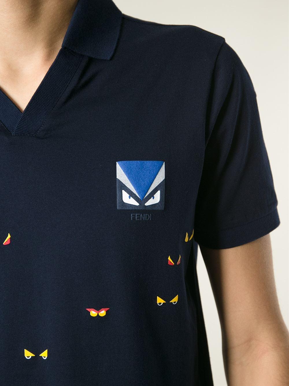 f36fe300 Fendi Bug Print T-Shirt in Blue for Men - Lyst