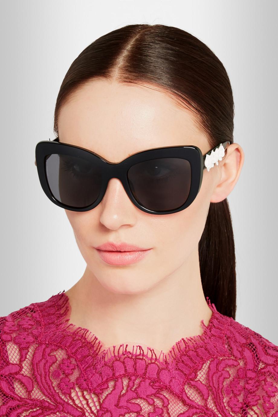5ee9a9f69f1b Dolce   Gabbana Embellished Cat Eye Sunglasses