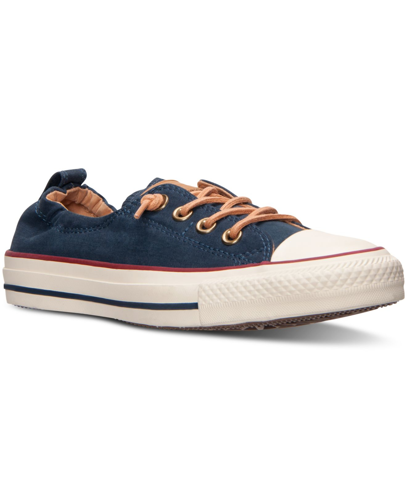 uk availability 26f30 9aa73 Lyst - Converse Women s Chuck Taylor Shoreline Peached Canvas Casual ...  women s converse chuck