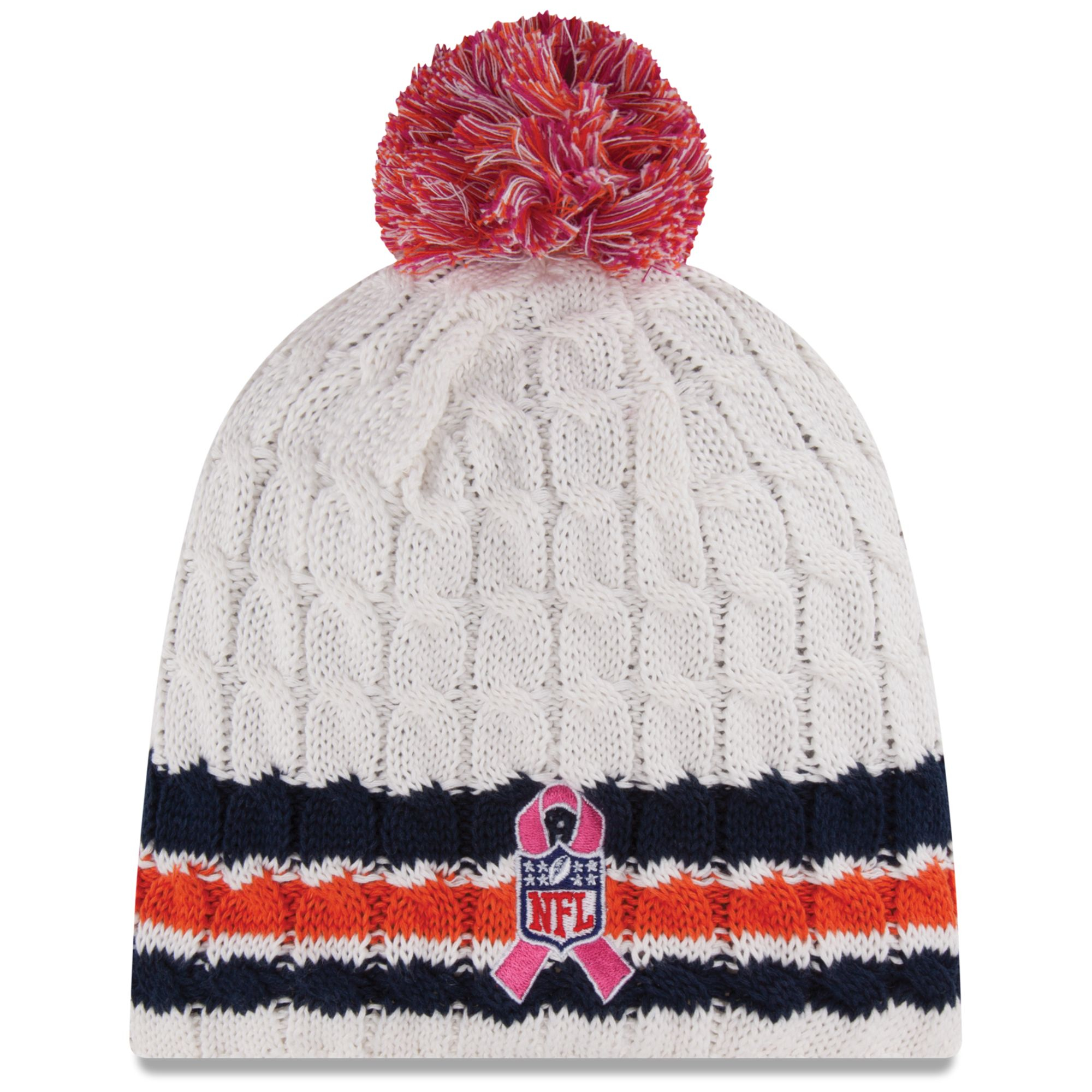 dc33e325c ... where can i buy lyst ktz womens denver broncos breast cancer awareness  knit hat in b2595