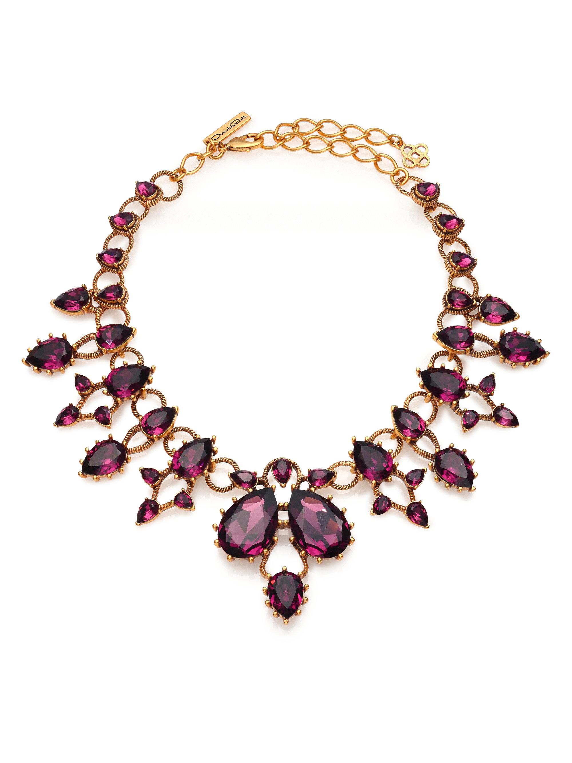 Modern Twist necklace - Pink & Purple Oscar De La Renta sas8yVm4
