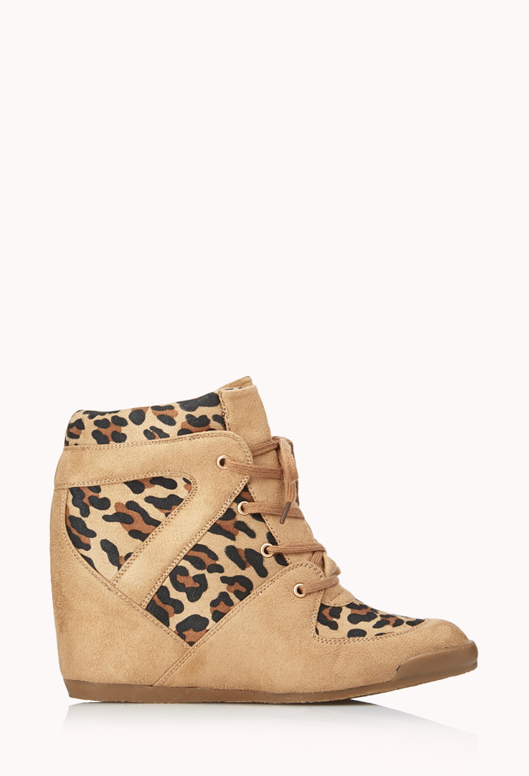 Forever 21 Wild Thing Wedge Sneakers in Natural | Lyst