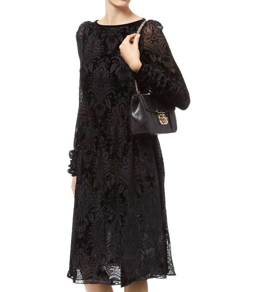 Chlo¨¦ Small Ayers Snakeskin Elsie Shoulder Bag in Black | Lyst