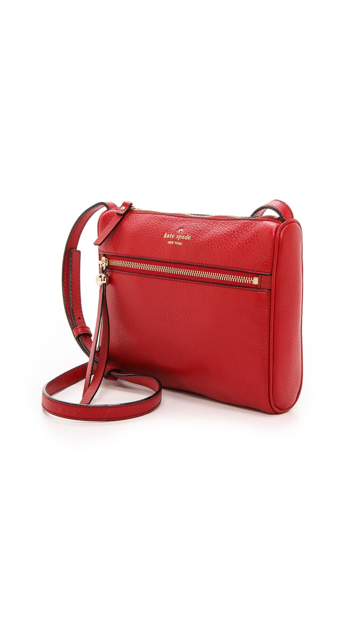 Lyst Kate Spade New York Cayli Cross Body Bag Black In Red