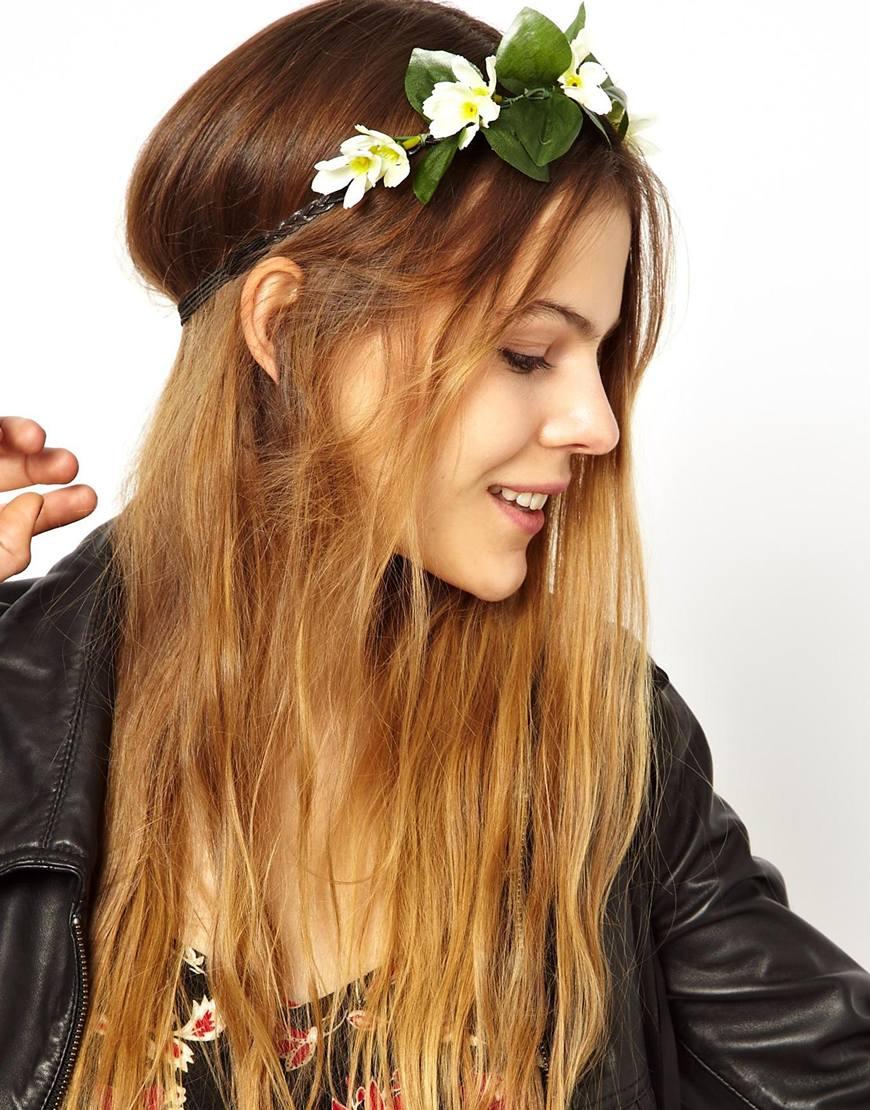 Lyst asos limited edition garden flower hairband in green gallery mightylinksfo