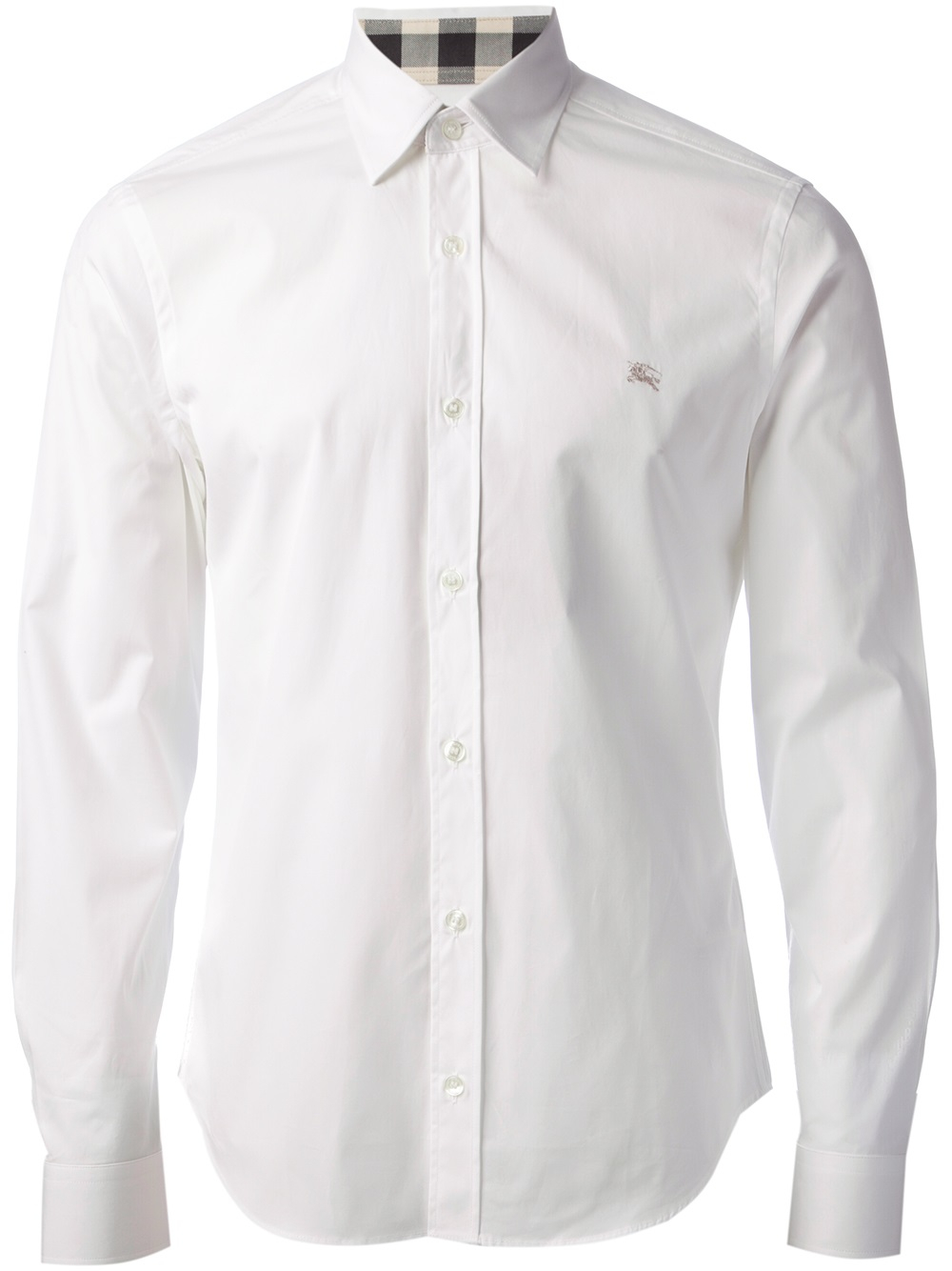 Burberry brit classic shirt in white for men lyst for Where are burberry shirts made