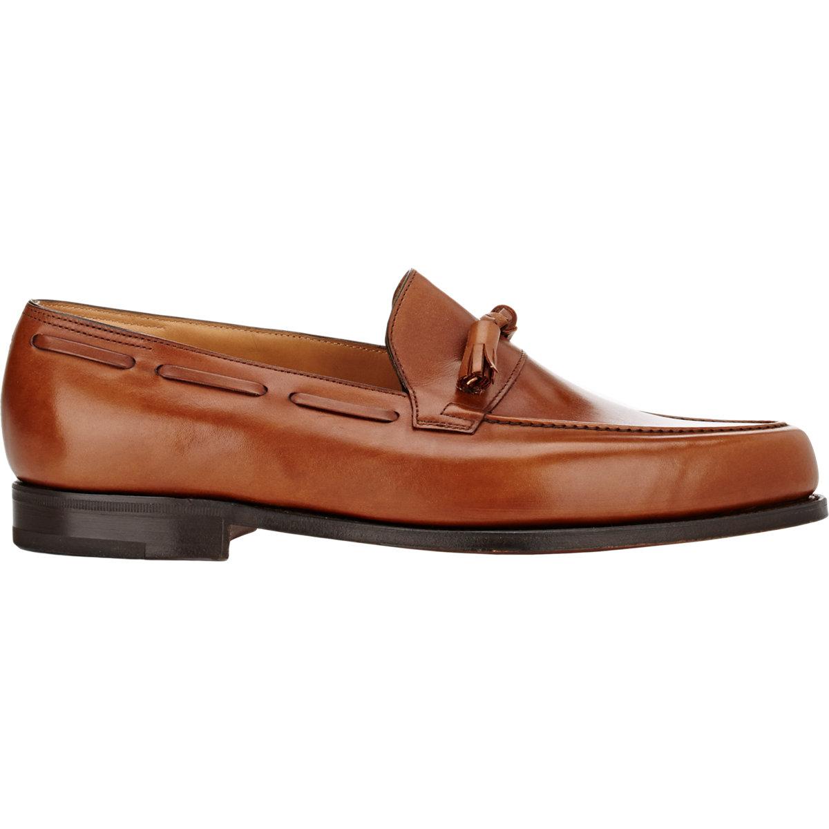 50c23d5ea51 Lyst - John Lobb Men s Alton Tassel Loafers in Brown for Men