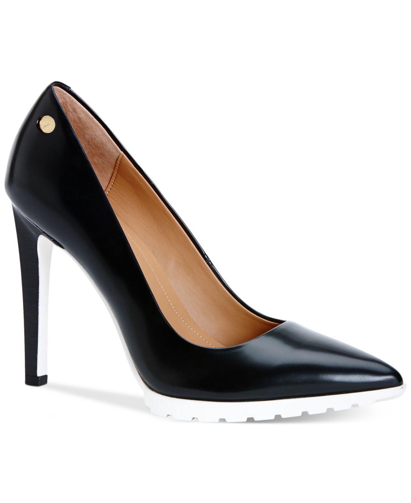 45a68e18b3920 Calvin Klein Black Brigitte Pumps