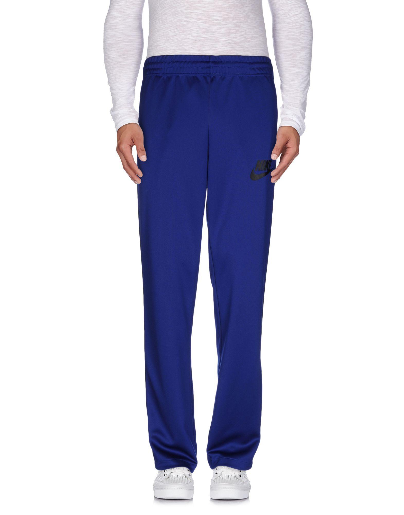 Nike casual trouser in blue for men lyst