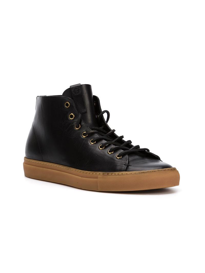 Buttero Tanino Hi Top Sneakers In Black For Men Lyst
