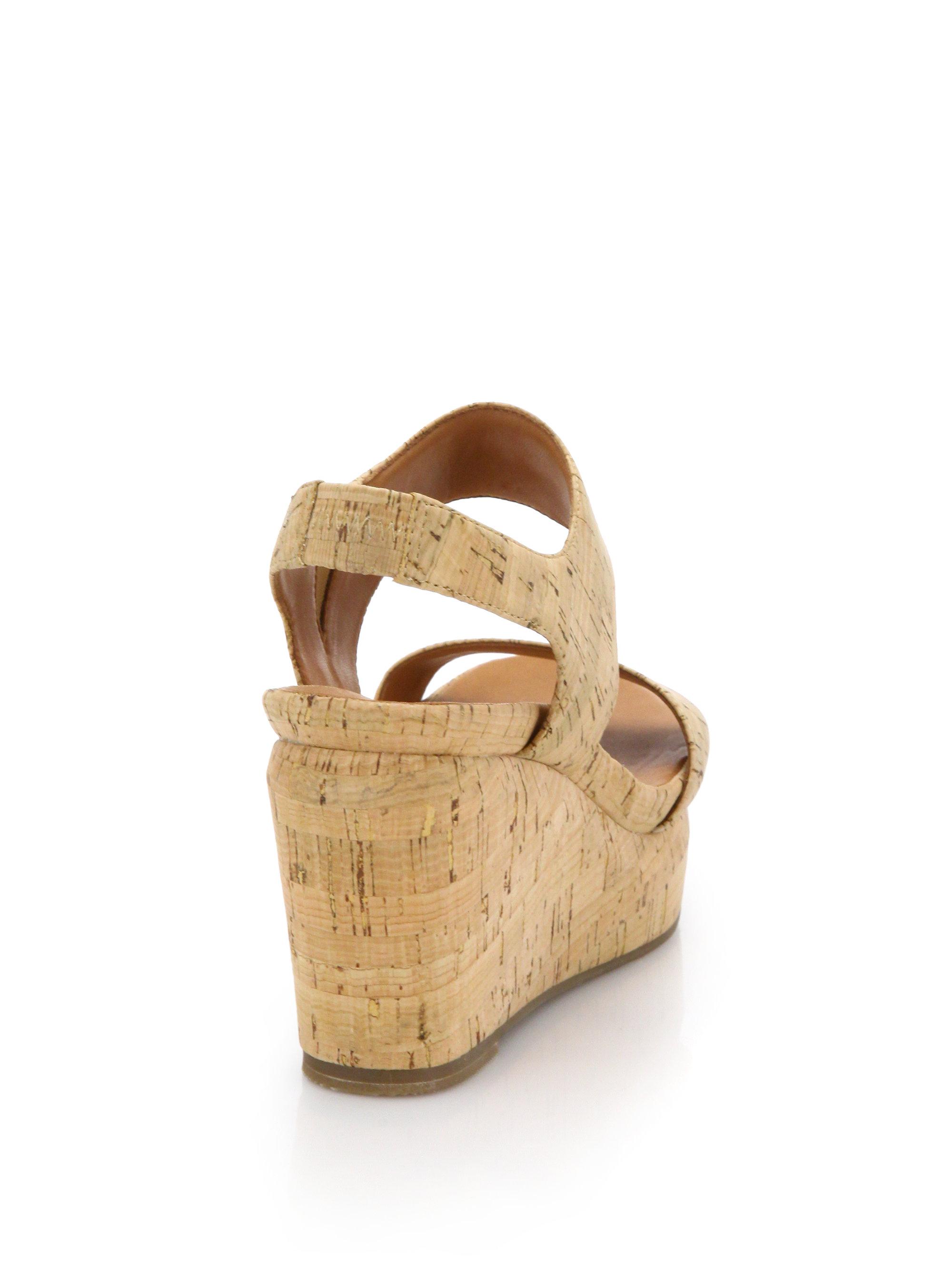 Lyst Gentle Souls Juniper Cork Wedge Sandals In Natural