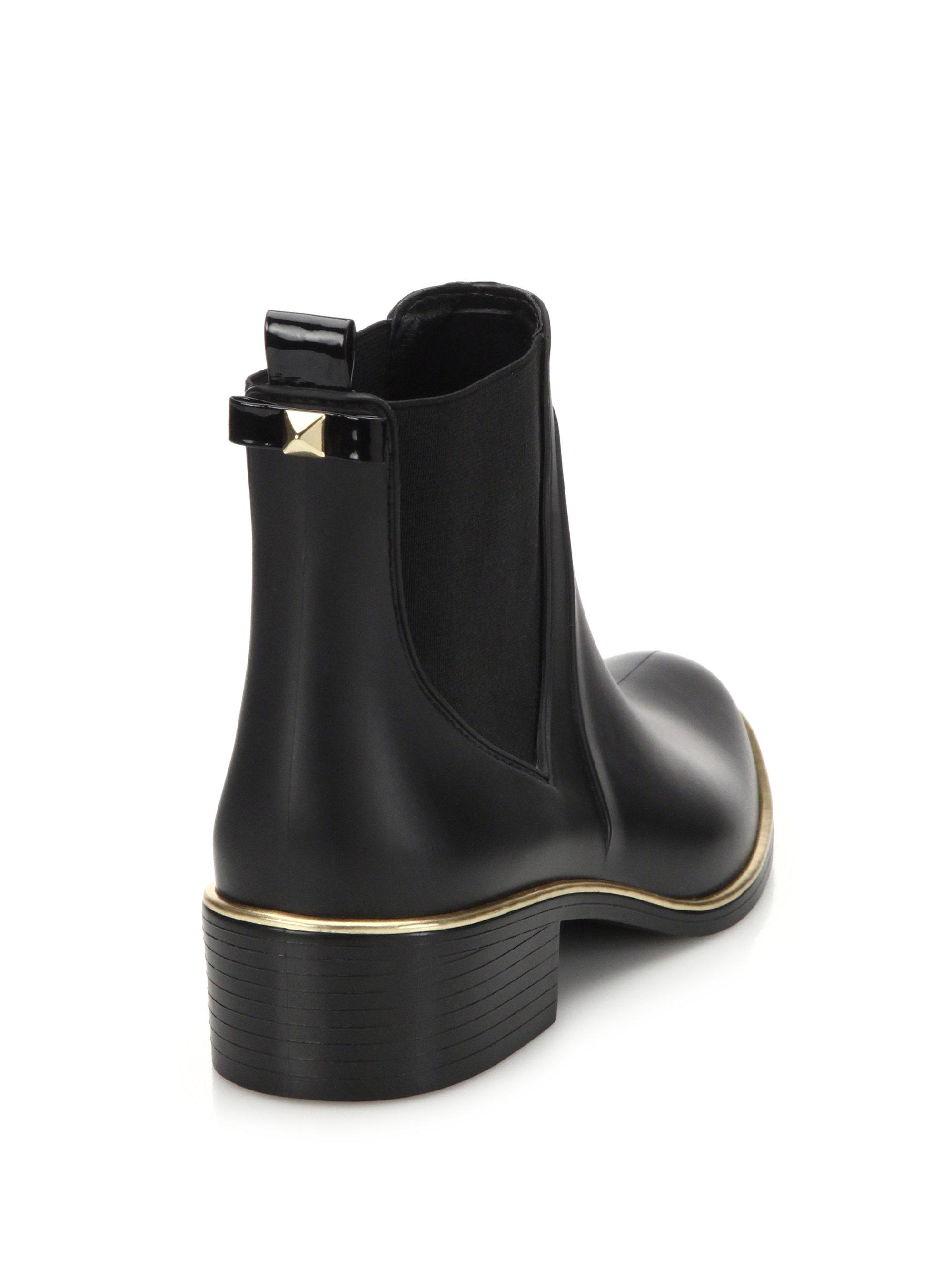 Kate Spade Sedgewick Rubber Chelsea Rainboots In Black - Lyst-5929