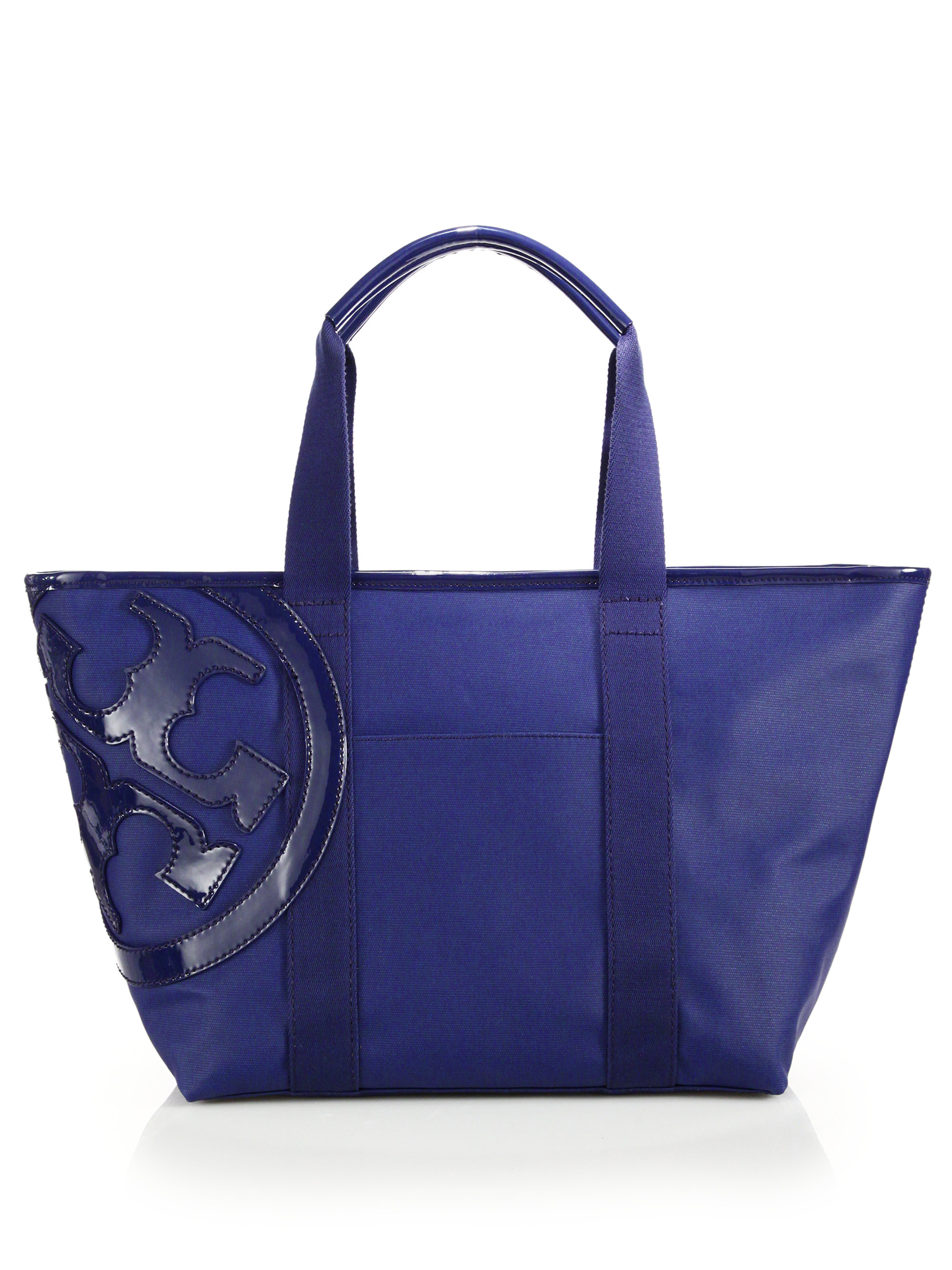 98dd6084d835 Lyst - Tory Burch Small Beach Canvas Tote in Blue