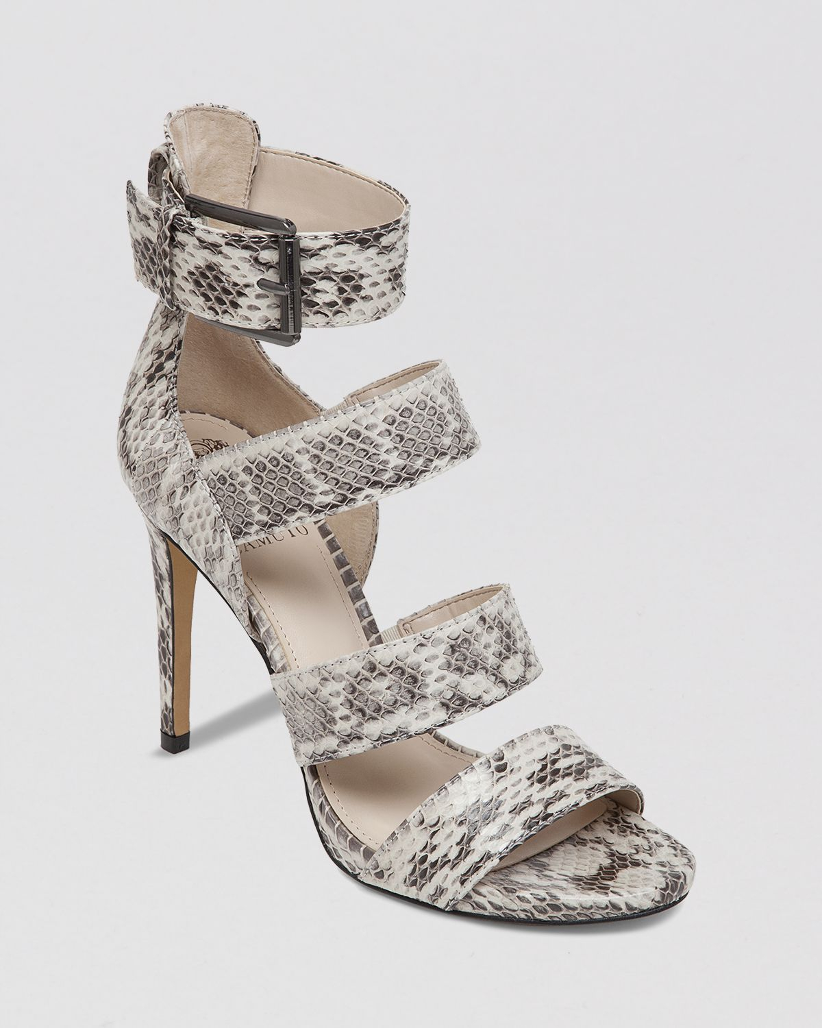 Vince Camuto Snake Print Multi Strap Sandals Rittel High