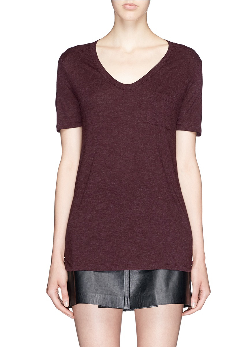 T by alexander wang classic jersey t shirt in red lyst for T by alexander wang t shirt