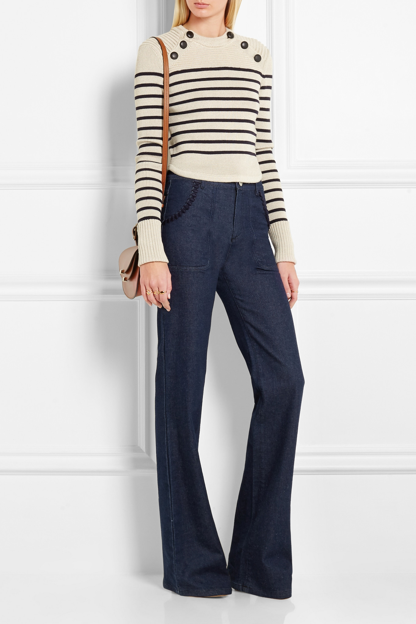 high-rise flared trousers - Black See By Chloé 3iKnf3t2G