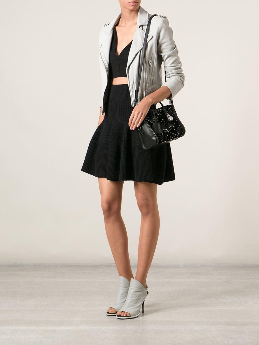 fc0dc59d0a864 Alexander McQueen Mini 'Padlock' Ivy Shoulder Bag in Black - Lyst