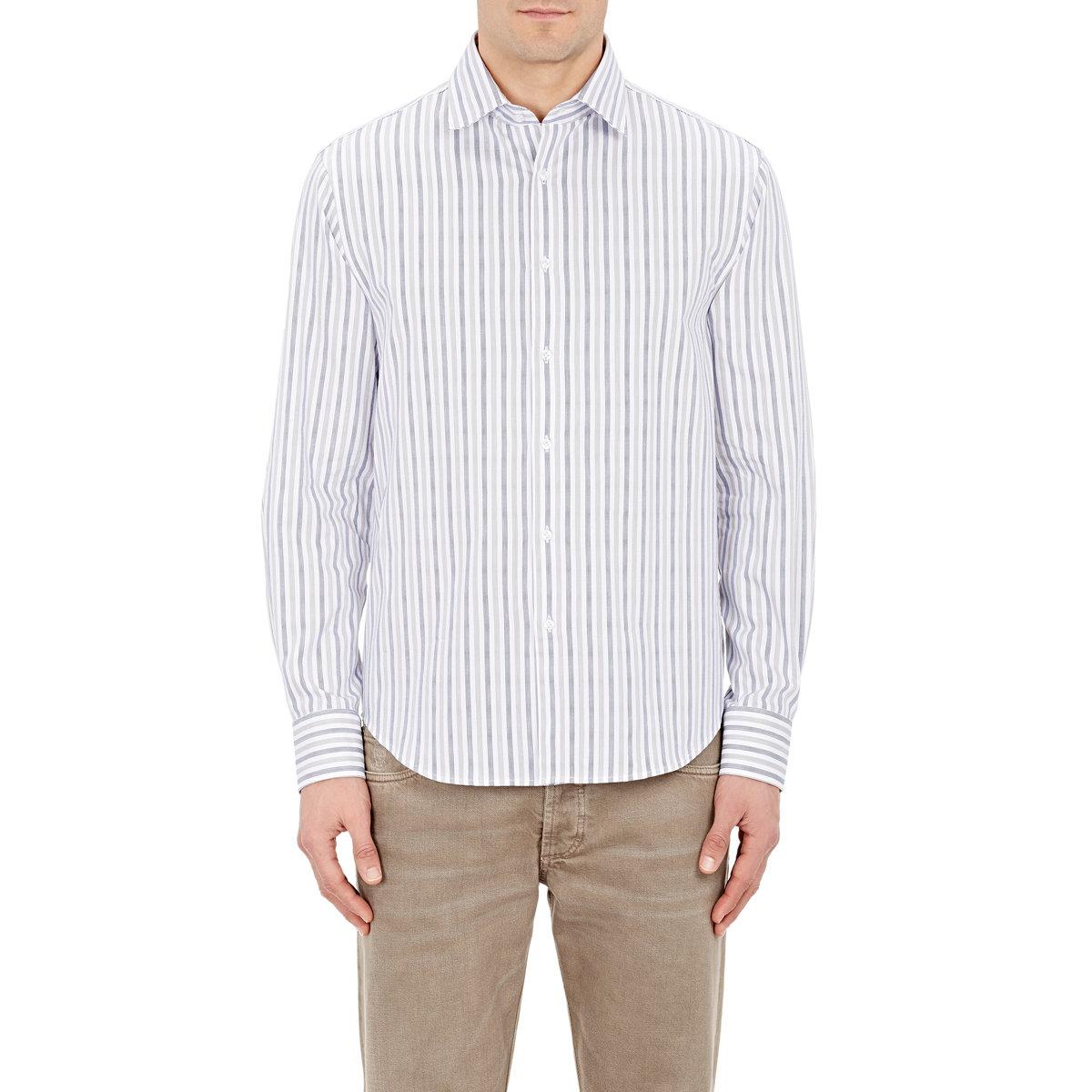 Mason 39 S Men 39 S Striped Shirt In Blue For Men Lyst