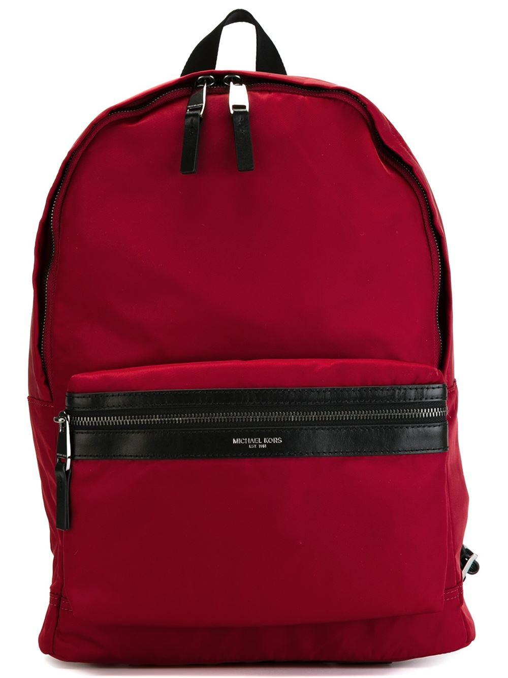 michael kors 39 kent 39 backpack in red for men lyst. Black Bedroom Furniture Sets. Home Design Ideas