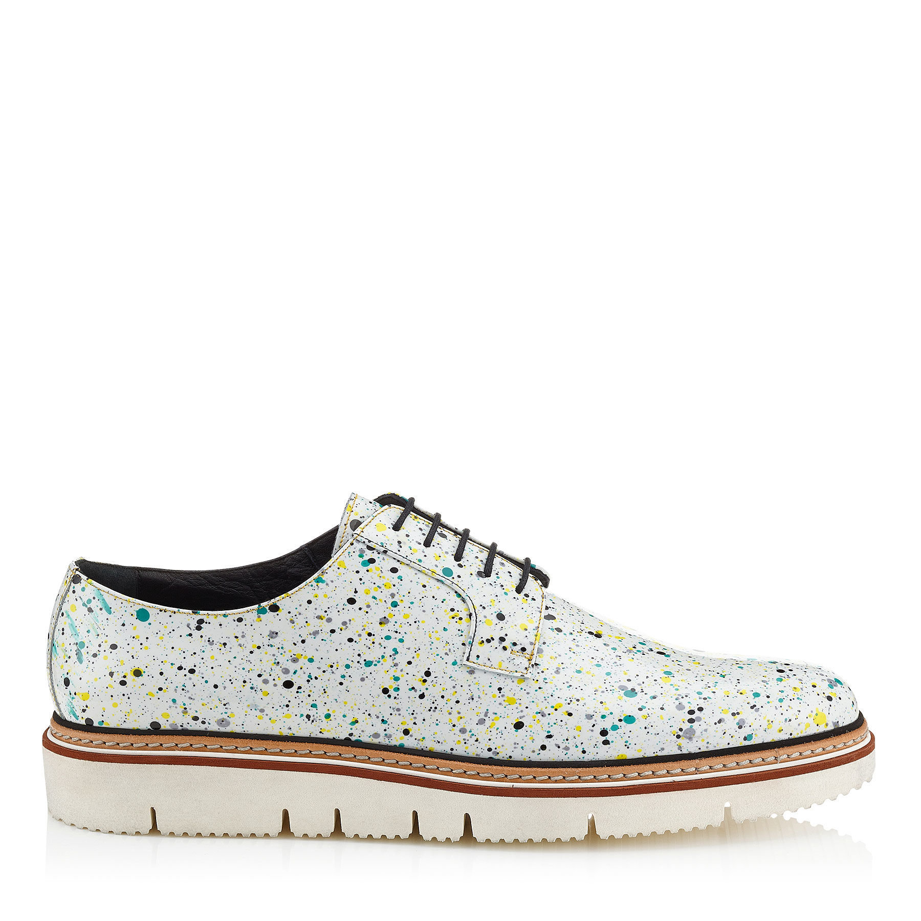 ffe543e9c7cb Jimmy Choo Lars White Galaxy Patent Lace Up Shoes in White for Men ...