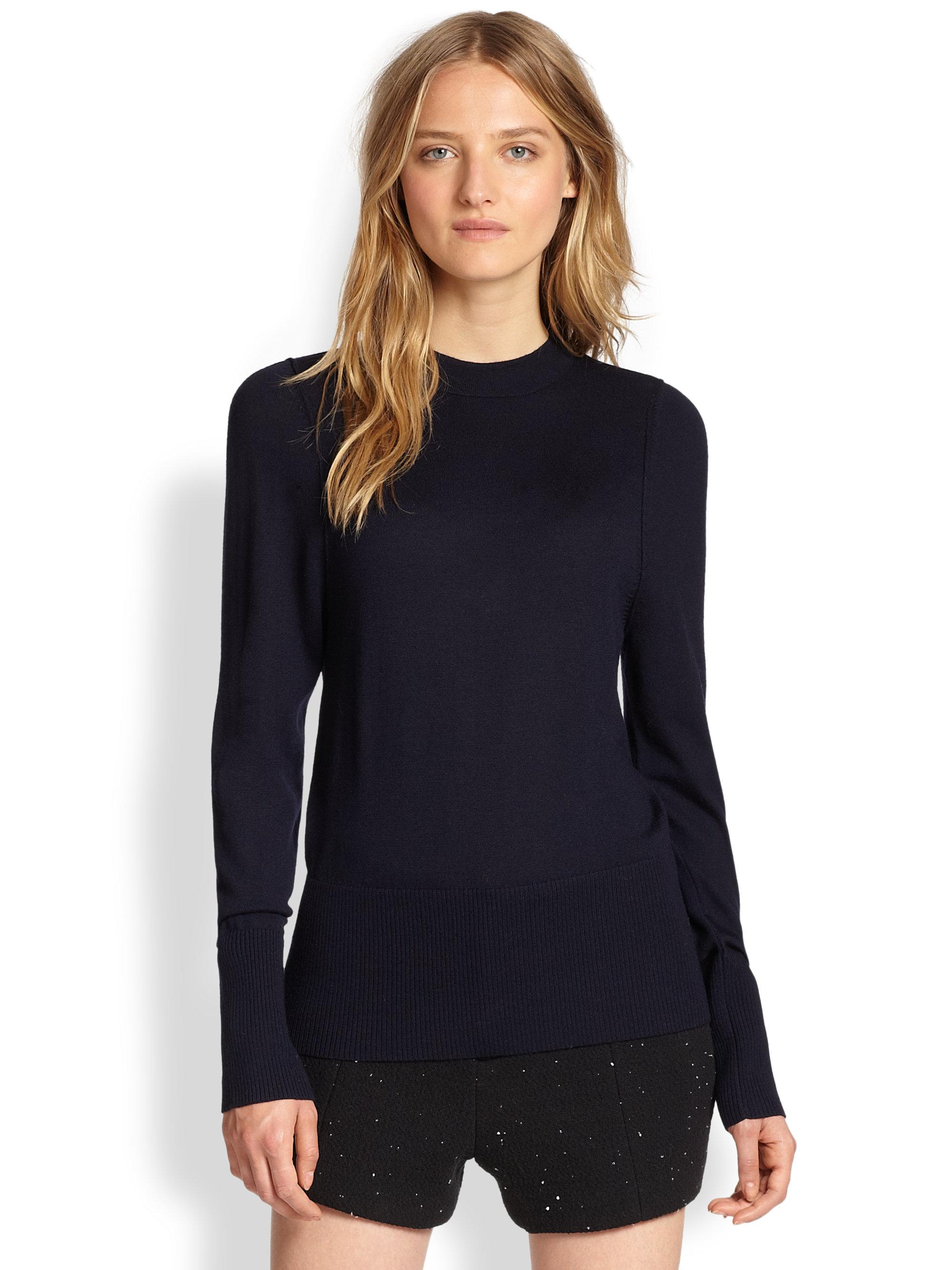 Wool Sweater Grey: Rag & Bone Sydney Mock-turtleneck Merino Wool