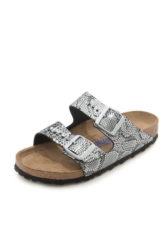 birkenstock arizona python print sandals in silver python. Black Bedroom Furniture Sets. Home Design Ideas