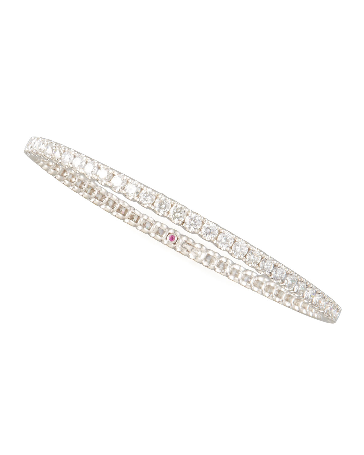 bracelet platinum cushion kite pin in diamond set eternity cut ct