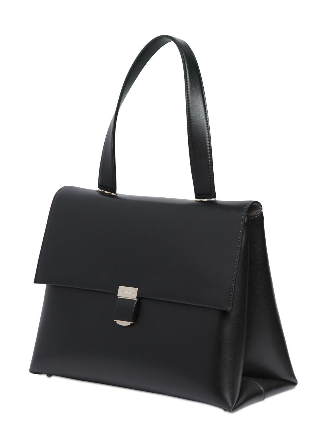 Lyst - Giorgio Armani Charniere Doree  Leather Top Handle Bag in Black d3dbd1bdd8